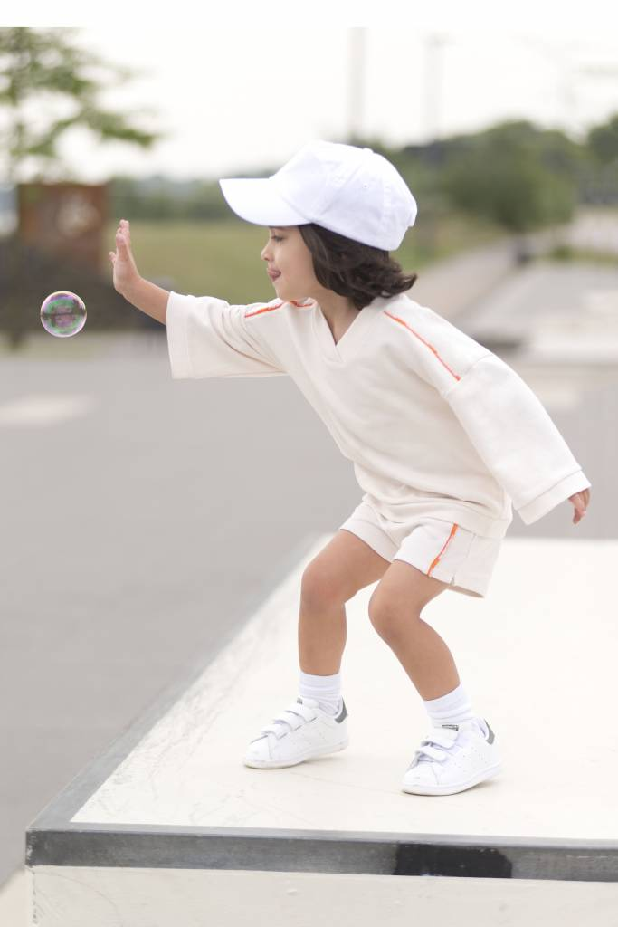 Cotton Sweater and Shorts