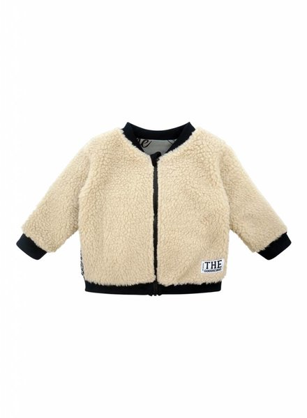 Reversible teddy jacket - Jersey and plush