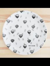 Large Plate wit Ramen Print