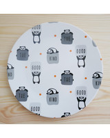 Small Plate With Panda Print