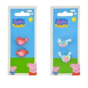 Huismerk 2-Delige Peppa Pig kinderringen set
