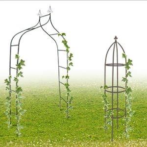 ♣ Decopatent® & Relaxdays Rozenbogen & Planten Rekken voor in huis of voor uw Tuin