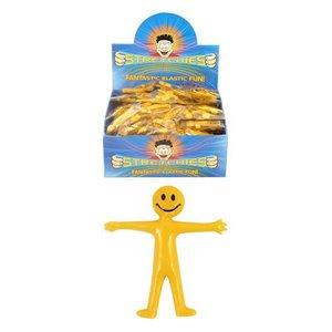 Huismerk Uitdeelcadeautjes - Uittrekbare Strech Smiley Poppetjes in Display (144 stuks)