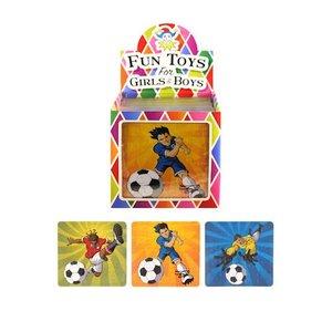 Huismerk Uitdeelcadeautjes - Puzzel: Voetballers, 13 x 12 Cm in Traktatiebox (108 stuks)