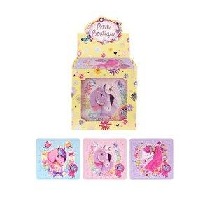 Huismerk Uitdeelcadeautjes - Puzzel: Pony's / Paarden, 13 x 12 Cm in Traktatiebox (108 stuks)