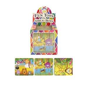 Huismerk Uitdeelcadeautjes - Puzzel: Jungle, 13 x 12 Cm in Traktatiebox (108 stuks)