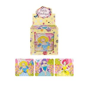 Huismerk Uitdeelcadeautjes - Puzzel: Princessen, 13 x 12 Cm in Traktatiebox (108 stuks)