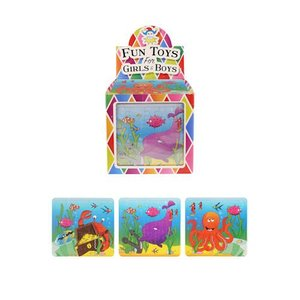 Huismerk Uitdeelcadeautjes - Puzzel: Sea Life, 13 x 12 Cm in Traktatiebox (108 stuks)