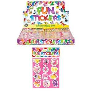 Huismerk Uitdeelcadeautjes - Fun Stickers - Model: Pony's in Display (120 stuks)