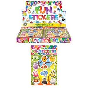 Huismerk Uitdeelcadeautjes - Fun Stickers - Model: Jungle Dieren in Display (120 stuks)