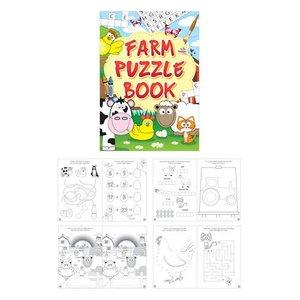 Huismerk Uitdeelcadeautjes - Puzzelboeken - Model: Boerderij (48 stuks)