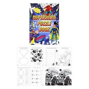 Huismerk Uitdeelcadeautjes - Puzzelboeken - Model: Super Hero (48 stuks)