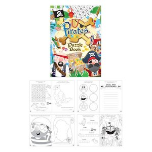 Huismerk Uitdeelcadeautjes - Puzzelboeken - Model: Piraten (48 stuks)