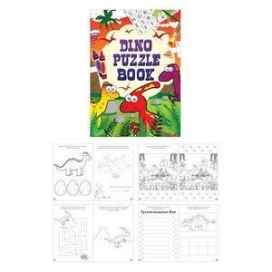 Huismerk Uitdeelcadeautjes - Puzzelboeken - Model: Dinosaurus (48 stuks)