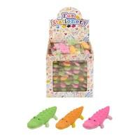 Huismerk Uitdeelcadeautjes - Gummen - Model: Krokodillen in Traktatiebox (84 stuks)