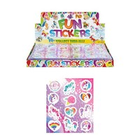 Huismerk Uitdeelcadeautjes - Fun Stickers - Model: Unicorn in Display (120 stuks)