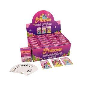 Huismerk Uitdeelcadeautjes - Mini Speelkaarten - Model: Princess in Display (24 stuks)