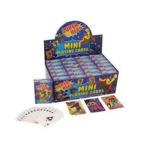 Huismerk Uitdeelcadeautjes - Mini Speelkaarten - Model: Super Hero in Display (24 stuks)