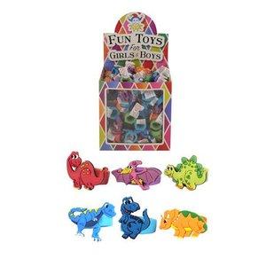 Huismerk Uitdeelcadeautjes - Kinderringen - Model: Dinosaurussen in Traktatiebox (156 stuks)