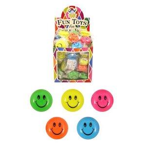 Huismerk Uitdeelcadeautjes - JO JO'S - Model: Smiley's in Traktatiebox (72 stuks)