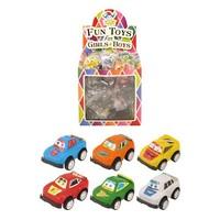 Huismerk Uitdeelcadeautjes - Pull Back Auto's met Ogen in Traktatiebox (60 stuks)
