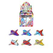 Huismerk Uitdeelcadeautjes - Mini Star Glider Vliegtuigen in Traktatiebox (72 stuks)