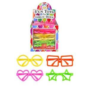 Huismerk Uitdeelcadeautjes - Kinder Fun / Feest Brillen in Traktatiebox   Traktatie Feestbrillen (26 Stuks)