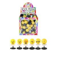 Huismerk Uitdeelcadeautjes - Omhoog Springende Smiley's in Traktatiebox (84 Stuks)