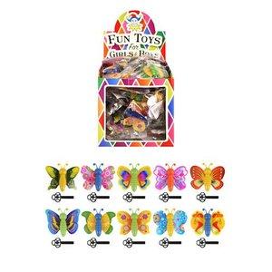 Huismerk Uitdeelcadeautjes - Wegschiet Vlinders in Traktatiebox (60 stuks)