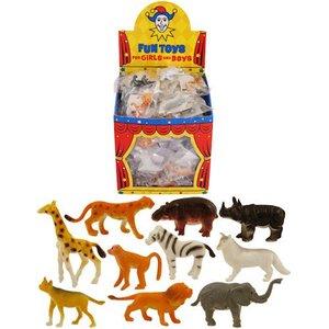 Huismerk Uitdeelcadeautjes - Grabbelton Jungle Dieren in Traktatiebox (84 Stuks)