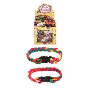 Huismerk Uitdeelcadeautjes - Gevlochten Neon Gekleurde Kinder Armbanden in Traktatiebox (144 Stuks)