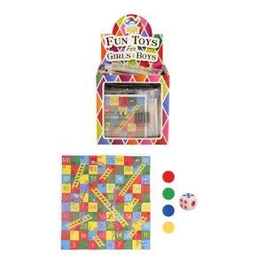 Huismerk Uitdeelcadeautjes - Snake & Ladders Spel in Traktatiebox (72 Stuks)