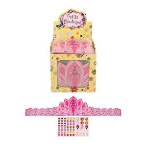 Huismerk Uitdeelcadeautjes - Verstelbare Kartonnen Princes Kroon in Traktatiebox (84 Stuks)