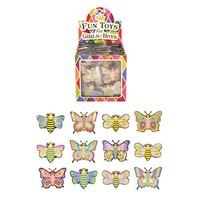 Huismerk Uitdeelcadeautjes - Pull Back Vlinders in Traktatiebox (24 stuks)