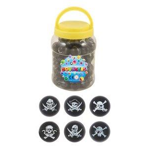 Huismerk Uitdeelcadeautjes - Piraten Stuiterballen Ø3.3 Cm in Pot (72 stuks)