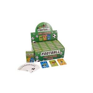 Huismerk Uitdeelcadeautjes - Mini Speelkaarten - Model: Voetbal in Display (24 stuks)