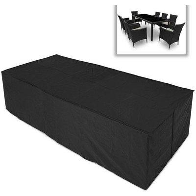 Jago Afdekhoes -  Voor Tuinset van 8 stoelen en tafel - Afm. 307x136x88 Cm.  Kleur: Zwart