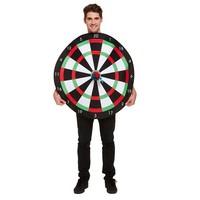 Henbrandt Dartboard Body Suit met Klittenband Dartpijlen | Verkleedkleding | Vrijgezellenfeest | Volwassenen ONE-SIZE