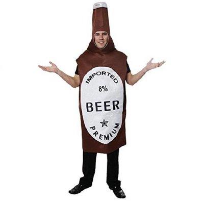 Henbrandt Bier Fles / Beer Bottle Kostuum | Verkleedkleding | Vrijgezellenfeest | Volwassenen ONE-SIZE