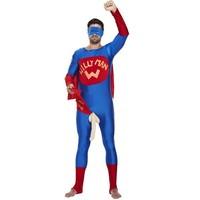 Henbrandt Willy Man / Super Lul Kostuum | Verkleedkleding | Vrijgezellenfeest | Volwassenen ONE-SIZE