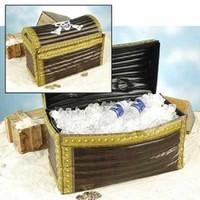 Henbrandt Opblaasbare schatkist / Inflatable Treasure Chest | Drank houder voor Beach Party | Afm. 64 x 46 x 33 cm