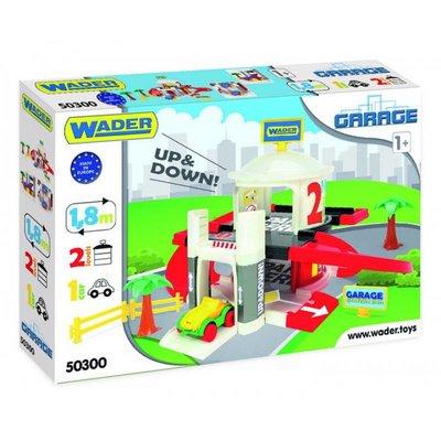 Wader Speelgoed Garage Met Lift 2 Verdiepingen, voor kinderen vanaf 1 jaar