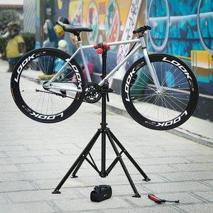 Songmics | Sterke Fiets montagestandaard met gereedschapsbakje | 360°  Draaibare / Verstelbare reparatie standaard | Universele fietsstandaard | Lichtgewicht en eenvoudig draagbaar.