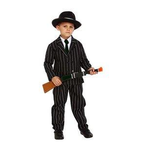Henbrandt KINDEREN 3-Delig Gangster / Mafia kostuum voor kinderen 7-9 jaar | Carnavalskleding | Verkleedkleding / Feest Kostuum Gangster | Jongens / Meisjes | Maat: Medium - 7-9 Jaar