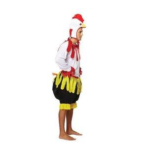 Henbrandt VOLWASSENEN 3-Delig Onesie Kip Kostuum met Staart | Grappig Kippen / Haan Pak | Vrijgezellen Feest | Carnavalskleding | Verkleedkleding / Feest | Man / Vrouw | One Size Fitts All