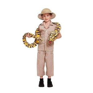 Henbrandt KINDEREN 3-Delig Jungle Safari / Ontdekkingsreiziger kostuum voor kinderen 7-9 jaar | Carnavalskleding | Verkleedkleding | Safari / Dierentuin verzorger Feest Kostuum  | Jongens | Maat: Medium - 7-9 Jaar.