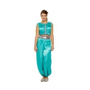 Henbrandt VOLWASSENEN DAMES Arabische Prinses Jasmine (van Aladdin) Kostuum | Arabische Prinsessen Jumpsuit | Kleur: Mint Groen | Carnavalskleding | Verkleedkleding | Feest Kostuum 1001 Nacht | Vrouw | Maat: 36 t/m 42 One Size Fitts All