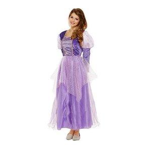 Henbrandt VOLWASSENEN DAMES Prinsessenjurk Rapunzel Kostuum | Lange Prinsessen Jurk | Kleur: Paars / Violet | Carnavalskleding | Verkleedkleding | Feest Jurk 100 | Vrouw | Maat: 34 t/m 40 One Size Fitts All