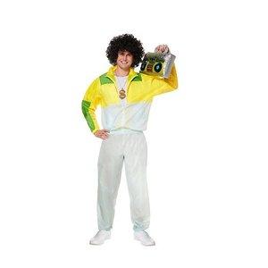 Henbrandt VOLWASSENEN HEREN Grappig jaren 80 RetroTrainings pak   Trainingspak Retro Man   Carnavalskleding   Verkleedkleding   Man  Maat: Maat: 46-48