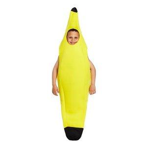 Henbrandt KINDEREN Jongens / Meisjes Grappig Bananen Kostuum | Gele Baan Fun Kostuum | Kleur: Geel | Carnavalskleding | Verkleedkleding | Feest Kostuum  | Meisjes / Jongen | Maat: Medium  7-9 Jaar.